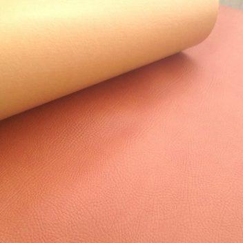Рыжевато-коричневый кожзам с тиснением под кожу