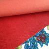 Красный кожзам с крупным тиснением под кожу