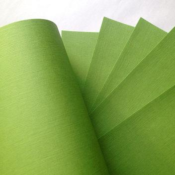 Бумага с тиснением Лён светло-зеленая