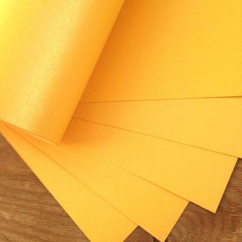 Металлизированный кардсток Золотой