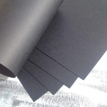 Матовый черный кардсток