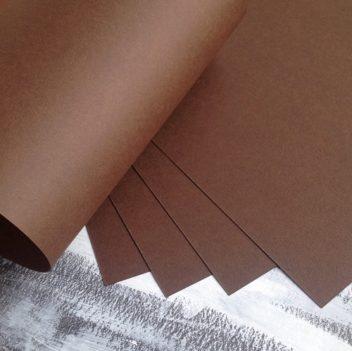 Матовый коричневый кардсток