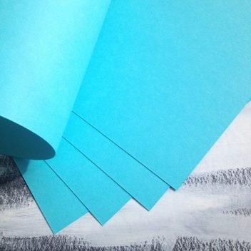 Матовый светло-бирюзовый кардсток