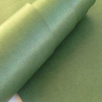 Зеленый кожзаменитель с тиснением под кожу ящерицы