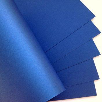 Металлизированный кардсток Синий