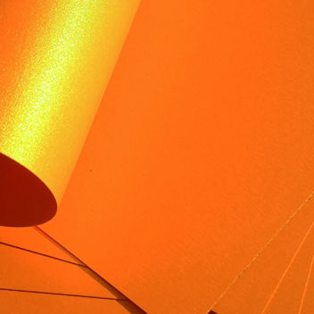 Металлизированный кардсток оранжевый 30х20см