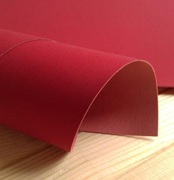 Красный переплетный кожзаменитель под замшу