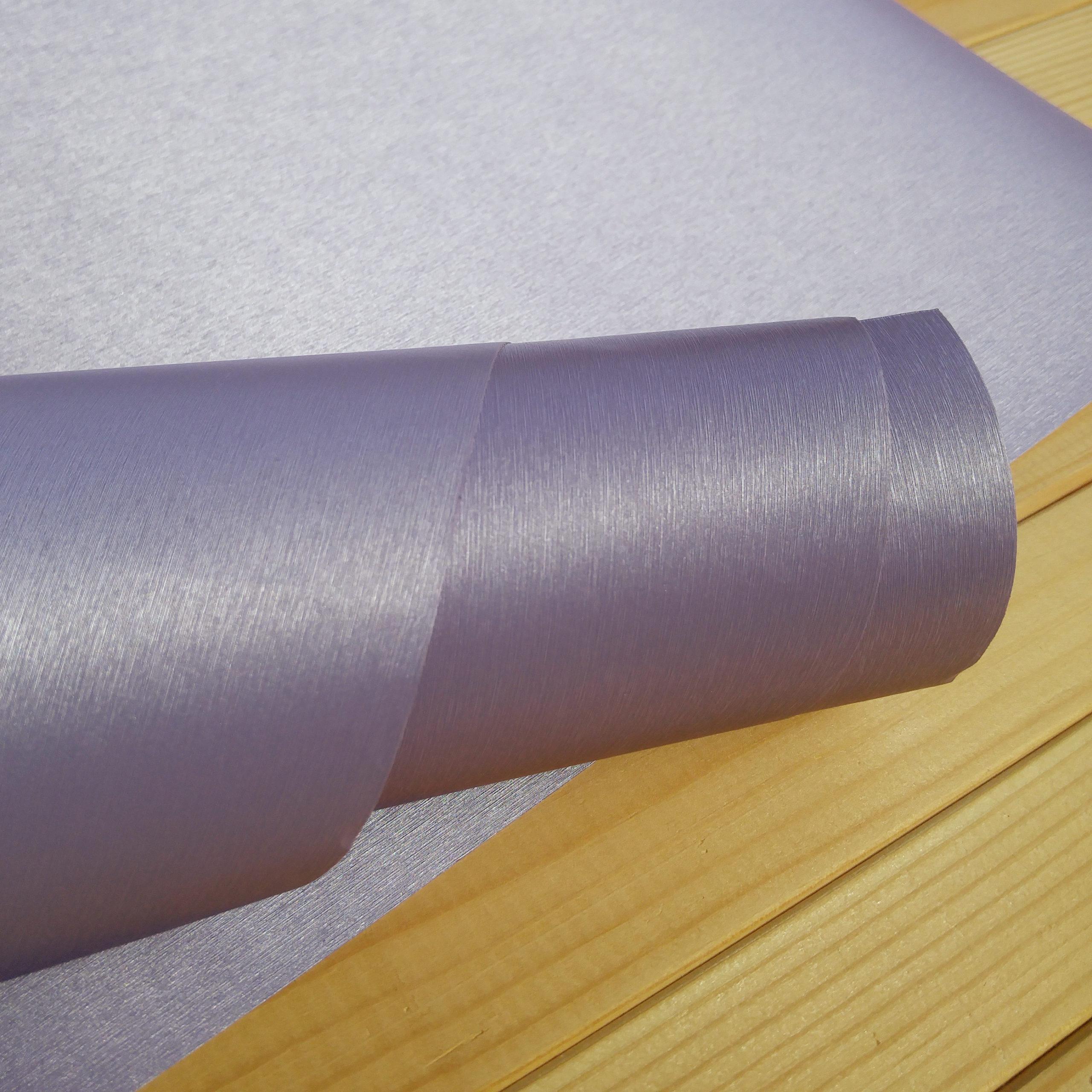 Переплетный бумажный материал Сиреневый под шёлк