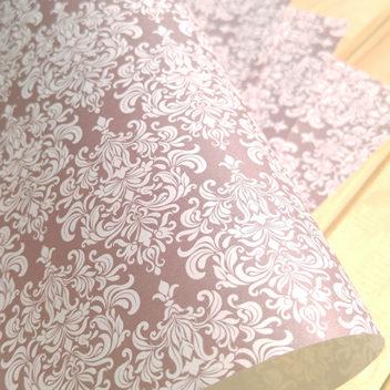 Эксклюзивная шоколадно-кремовая свадебная бумага Iced Coffee
