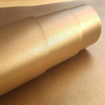 Металлизированная золотая экокожа