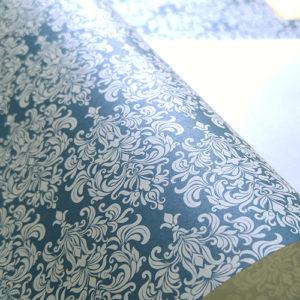 Эксклюзивная жемчужная свадебная бумага Snorkel Blue