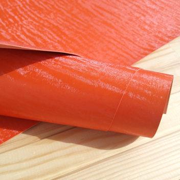 Оранжевый кожзам под бархат (с блеском)