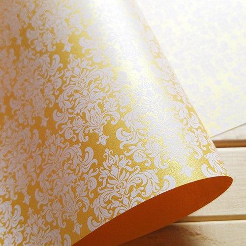 Эксклюзивная золотая свадебная бумага Gold&White