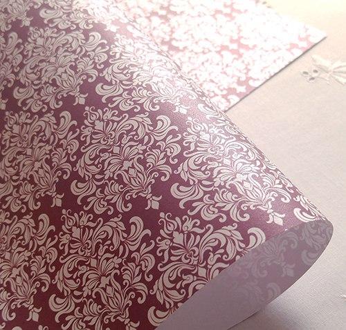 Эксклюзивная бордовая свадебная бумага Marsala