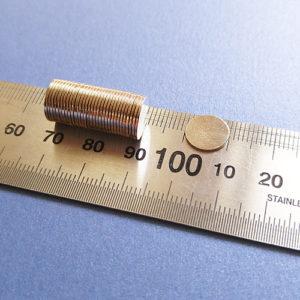 Магниты супер-тонкие 10х0,7мм