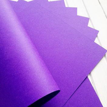 Матовый фиолетовый кардсток