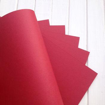 Матовый темно-красный кардсток