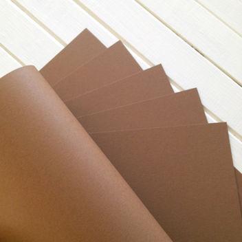 Матовый светло-коричневый кардсток