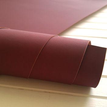 Темно-вишневый переплетный кожзаменитель под замшу
