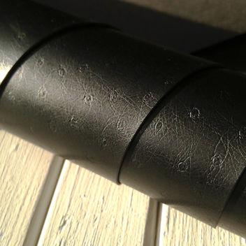 Черный текстурный кожзам с тиснением Кожа страуса