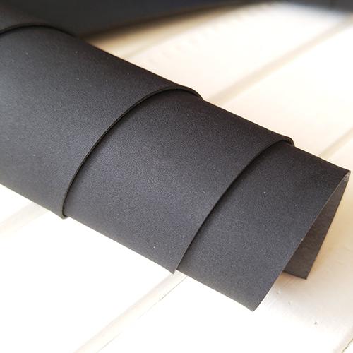 Черный переплетный кожзаменитель под замшу
