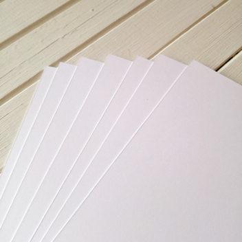 Базовый плотный белый кардсток