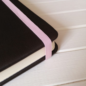 Резинка розовая для блокнотов 8мм