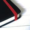 Резинка темно-красная для блокнотов 8мм 1м