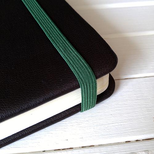 Резинка темно-зеленая для блокнотов 8мм