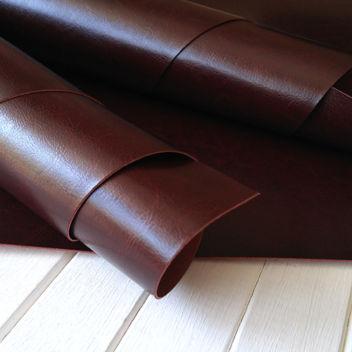 Глянцевый переплетный кожзам коричневый Каштан