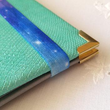 Широкая резинка для блокнотов Синий Космос 15мм