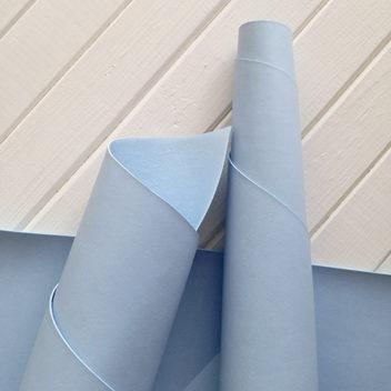 Приглушённо-голубой переплетный кожзаменитель