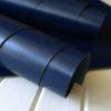 Глянцевый темно-синий переплетный кожзам