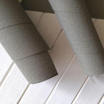 Переплетный бумажный материал Зеленовато-серый под холст
