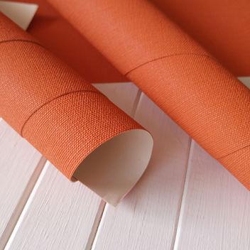 Переплетный бумажный материал Оранжевый под холст 50х35см