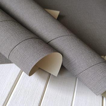 Переплетный бумажный материал Серый под холст