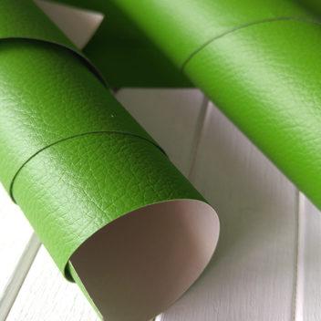 Переплетный бумажный материал Зеленый под кожу