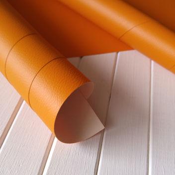 Переплетный бумажный материал Оранжевый под кожу