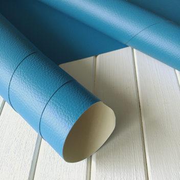 Переплетный бумажный материал Сине-голубой под кожу