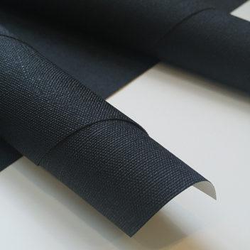 Переплетный бумажный материал Черный под холст