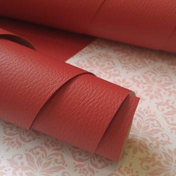 Переплетный бумажный материал Красный под кожу