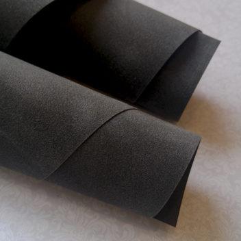 Темно-серая искусственная замша на бумажной основе 50х35см