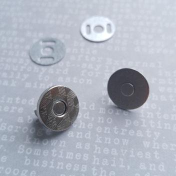 !!!NEW!!! Тонкая магнитная застежка (серебро) 14мм
