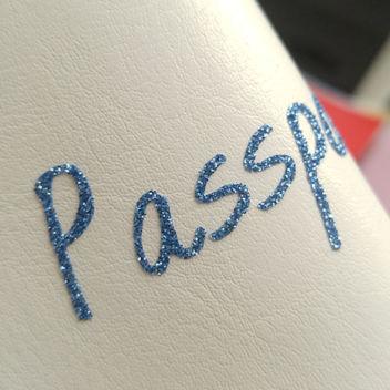 Светло-синяя термотрансферная пленка с глиттером 25х25см (Италия)
