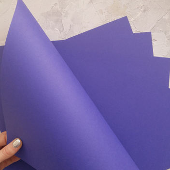 Матовый сине-фиолетовый кардсток