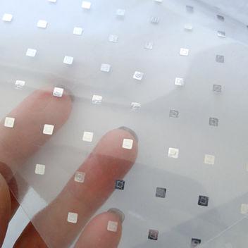 Термотрансфер в Ромбик-3D Зеркальное серебро 35х25см