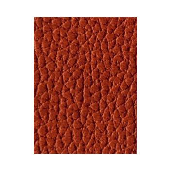 Красновато-коричневый кожзаменитель с крупным тиснением под кожу