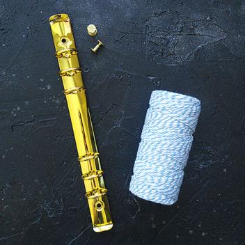 Кольцевой механизм с комплектом крепления золотой А5 22см