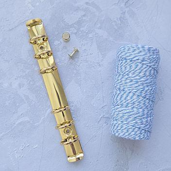 Кольцевой механизм с комплектом крепления золотой А6 17,5см