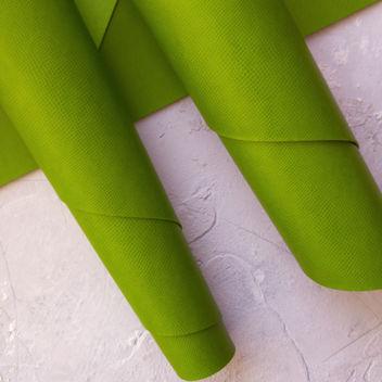 Ярко-зеленый кожзаменитель с тиснением Кожа змеи